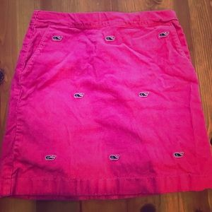 girls pink corduroy vineyard vines skirt